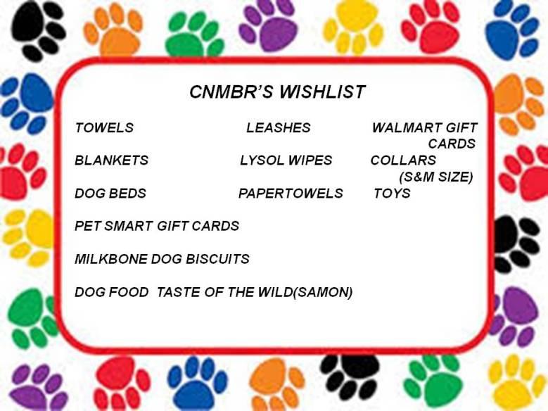 CNMBR WISHLIST